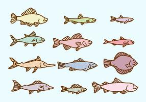 Schets Fish Collection Vector