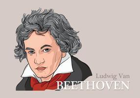 Vectorillustratie van Ludwig Van Beethoven vector