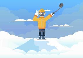 Alpinistische selfie vector