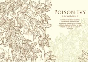Gratis Handgetrokken Poison Ivy Leaf vector