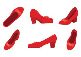 Ruby Slippers Vector Pictogrammen