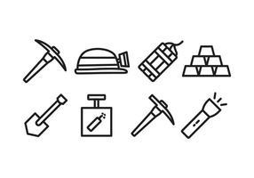 Mijnbouw pictogram set vector