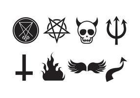 Gratis Lucifer en Duivels Vector Icon