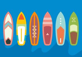 Medium paddle board vector