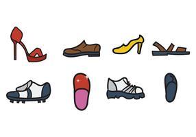 Schoenen Pictogrammen Vector