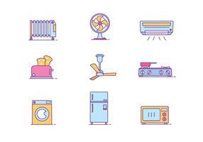 Huishoudelijke Objecten Icon Pack vector
