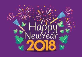Gelukkig Nieuwjaar 2018 Typografie Vector