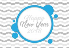Nieuwjaar 2018 Kaart vector