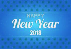 Achtergrond Van Gelukkig Nieuwjaar 2018 Vector