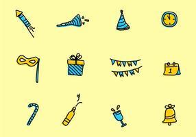 Nieuwjaar Icon vector