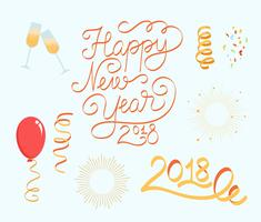 Gratis Nieuwjaar 2018 Vectoren