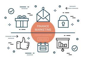Gratis Lineaire Finance Marketing Elementen vector