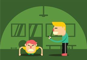Persoonlijke Trainer Vector Illustratie