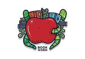 Gratis Bookworm Vector