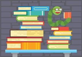 Bookworm Vectorillustratie vector