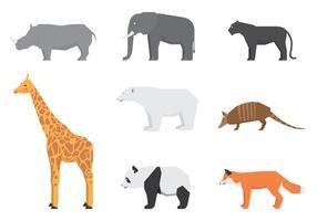 Wilde dieren logo's vector