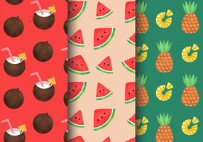 Gratis Vintage Summer Holiday Patterns vector