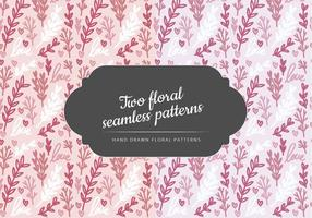 Vector Handgetekende Bloemen Naadloze Patronen