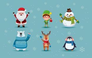 leuke verzameling kerstkarakters