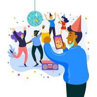 nieuwjaarsfeest met nieuw normaal protocol