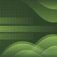 groene overlappende achtergrond met lijn en stippen