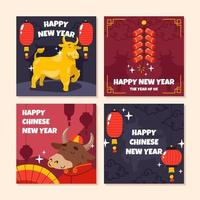 gouden os nieuwjaarskaart