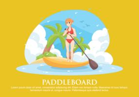 Paddleboard Vectorillustratie vector