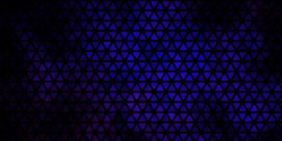 donkerblauwe achtergrond met lijnen, driehoeken. vector