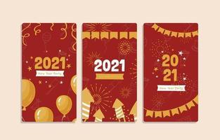 gouden rode 2021 nieuwe jaarbanner vector