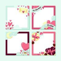 mooie valentijn frame collectie vector