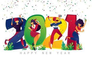gelukkig nieuw jaar 2021 vieren
