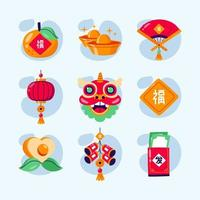Chinees Nieuwjaar icon set
