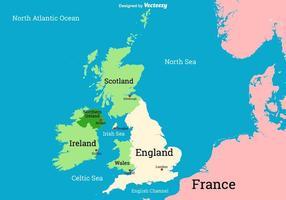 Vector Britse Eilanden - VK Kaart