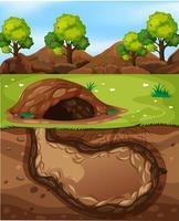 leeg ondergronds dierenhol vector