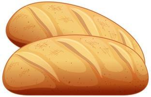 twee stokbrood in cartoon stijl geïsoleerd op een witte achtergrond vector