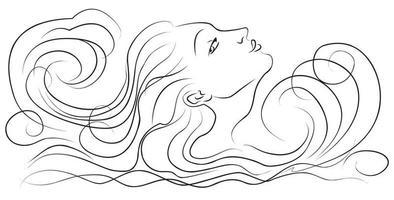 meisje in de golven