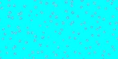 lichtblauwe, rode doodle textuur met bloemen.