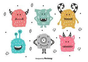 Monsters vector set