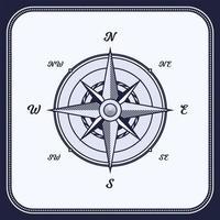 vintage kompas, windroos vector