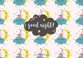 Goed Nacht Vector Patroon