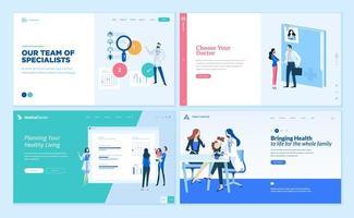 ontwerpsjablonen voor webpagina's voor geneeskunde en gezondheidszorg