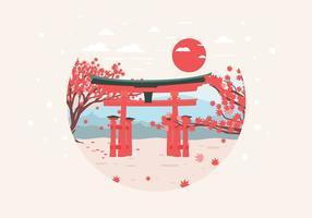 Japanse Esdoorn Tuin Vector