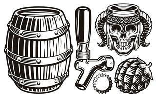 set vintage bier vector