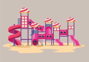 Moderne kinderen speelplaats vector