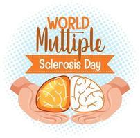 Wereld multiple sclerose dag logo of banner vector