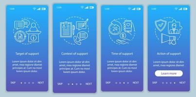 sociale licentie onboarding mobiele app-pagina