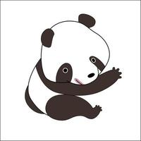 schattige cartoon panda beer vector