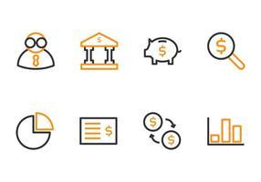 Boekhoudkundige pictogrammen vector
