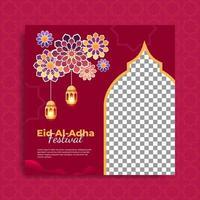 set van islamitische festival sjabloon voor spandoek vector