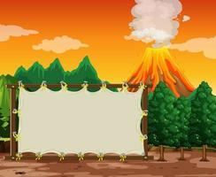 lege banner op prehistorische scèneachtergrond vector